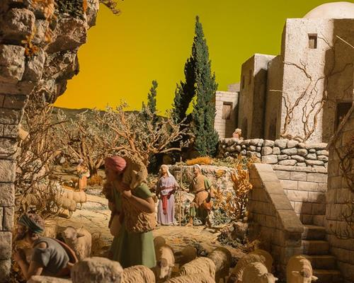 Seven dioramas of the Catalan school