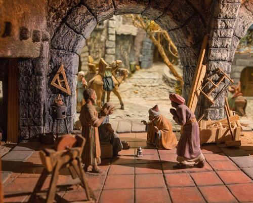 Small Diorama: Adoration of the Wise Men